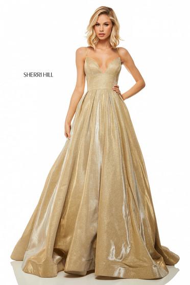 Rochie Sherri Hill 52832 Gold