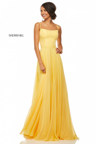 Rochie Sherri Hill 52839 Yellow