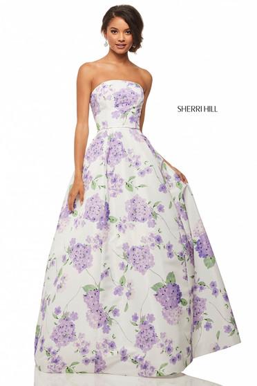 Rochie Sherri Hill 52865 White