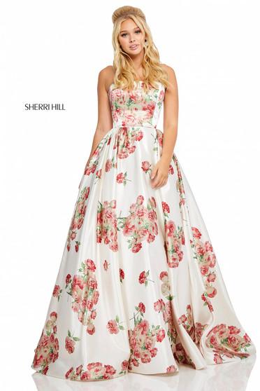 Rochie Sherri Hill 52867 White