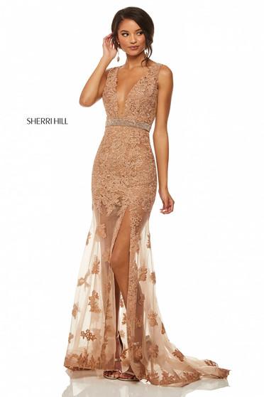 Rochie Sherri Hill 52875 Brown
