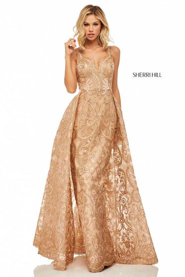 Rochie Sherri Hill 52878 Gold