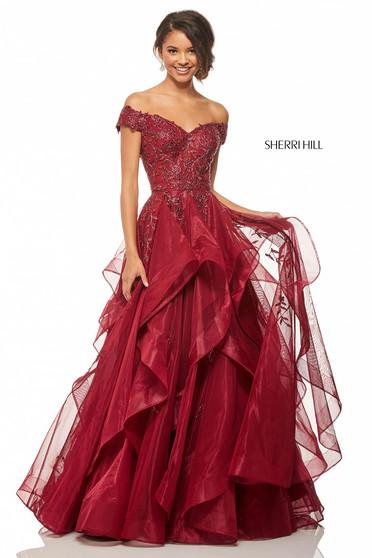 Rochie Sherri Hill 52880 Burgundy