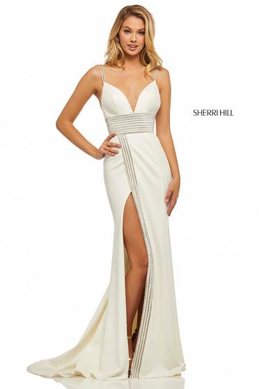 Rochie Sherri Hill 52905 White