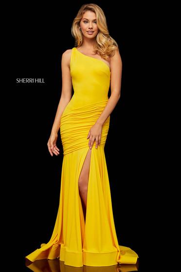 Rochie Sherri Hill 52902 Yellow