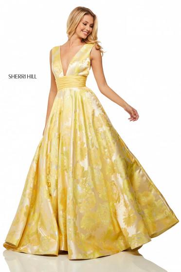 Rochie Sherri Hill 52899 Yellow