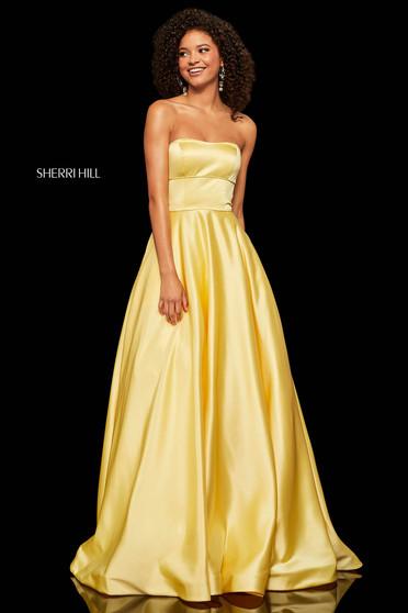 Rochie Sherri Hill 52924 yellow