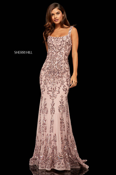 Rochie Sherri Hill 52925 rose