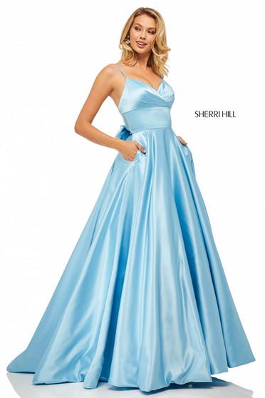 Rochie Sherri Hill 52926 light blue