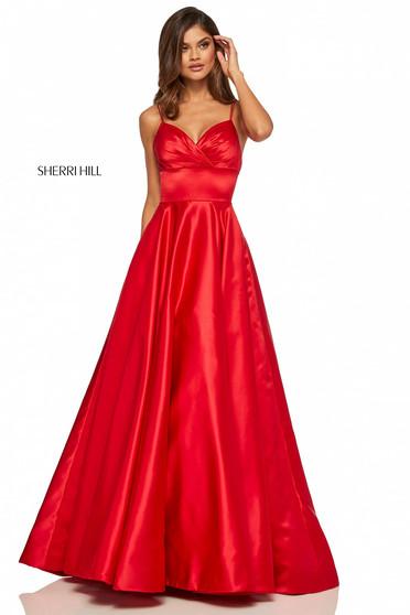 Rochie Sherri Hill 52926 red