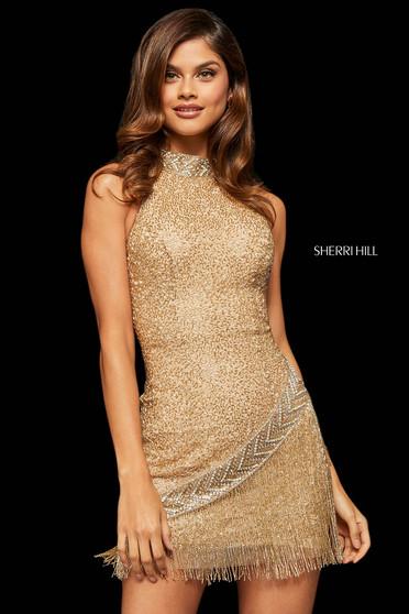 Rochie Sherri Hill 52940 nude/gold