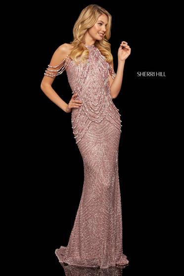 Rochie Sherri Hill 52949 rose gold
