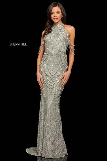 Rochie Sherri Hill 52949 silver