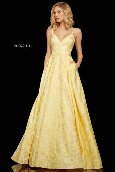 Rochie Sherri Hill 52953 yellow