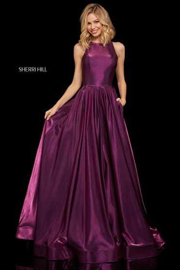 Rochie Sherri Hill 52958 dark purple