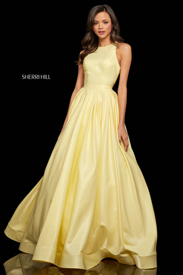 Rochie Sherri Hill 52958 yellow