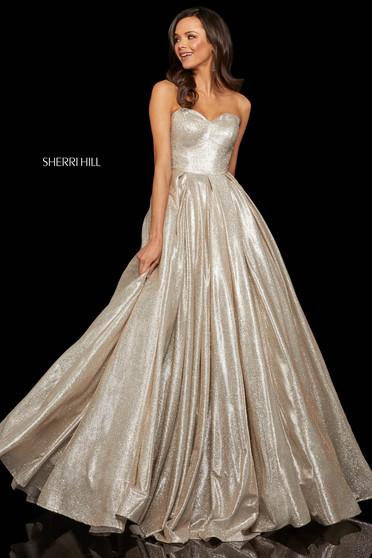 Rochie Sherri Hill 52959 nude/silver