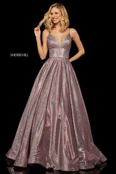 Rochie Sherri Hill 52960 Fuchsia/Silver