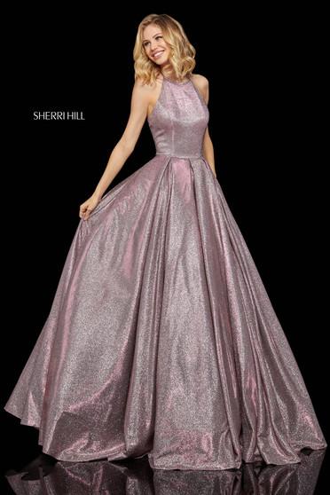 Rochie Sherri Hill 52964 fuchsia/silver