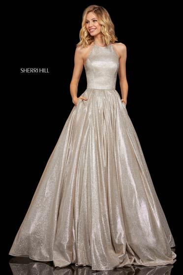 Rochie Sherri Hill 52964 nude/silver