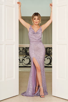 StarShinerS purple occasional mermaid dress with tented cut with sequins