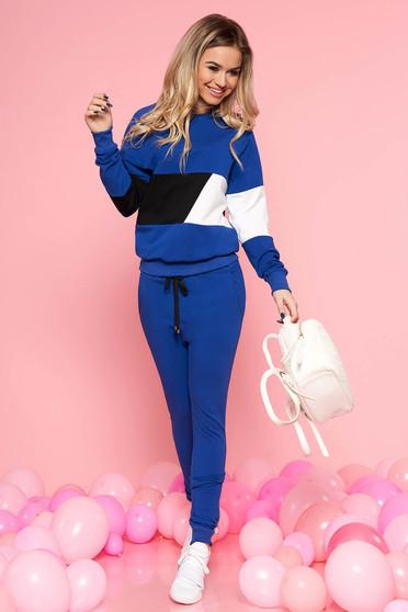 Set SunShine albastru cu pantaloni din bumbac usor elastic