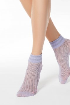 Lila net stockings tights & socks from elastic fabric shimmery metallic fabric