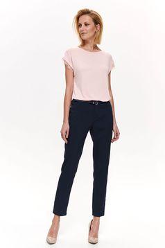 Bluza dama Top Secret rosa cu croi larg din material subtire cu aplicatii de dantela