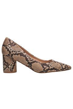 Pantofi Top Secret piersica office din piele ecologica cu toc gros cu varful usor ascutit