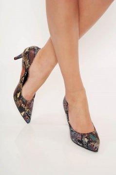Pantofi Top Secret mov elegant office cu varful usor ascutit din piele ecologica
