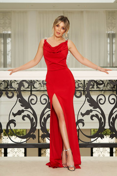 StarShinerS red occasional long mermaid dress