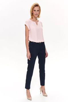 Bluza dama Top Secret rosa eleganta cu croi larg din material usor transparent