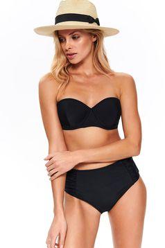 Top Secret black with classical high waisted bathing bikini from elastic fabric