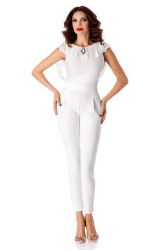 White jumpsuit occasional elegant long
