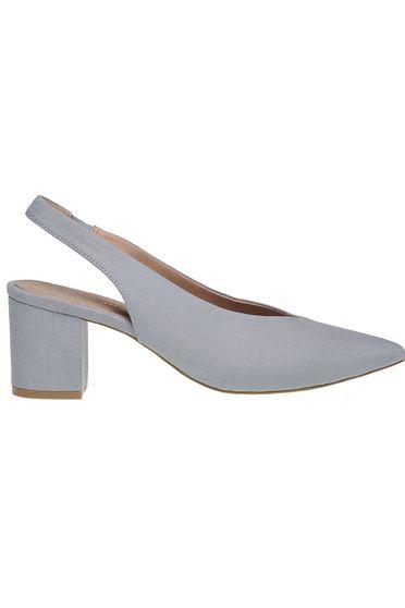 Pantofi Top Secret albastru cu toc gros cu varful usor ascutit