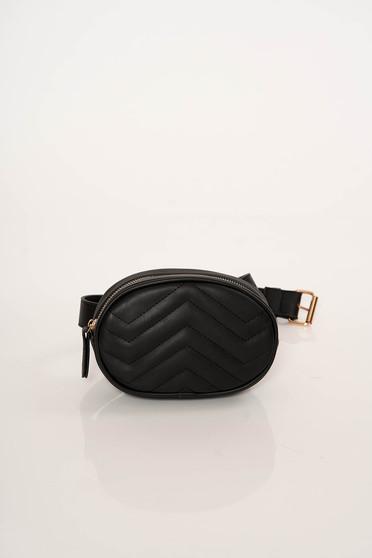 Geanta dama neagra casual tip borseta din material matlasat