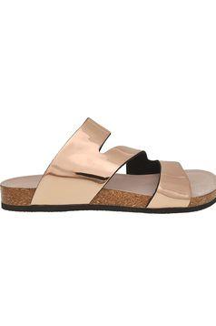 Papuci Top Secret aurii casual culoare metalizata
