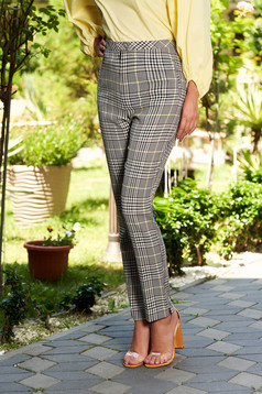 Pantaloni SunShine gri office in carouri