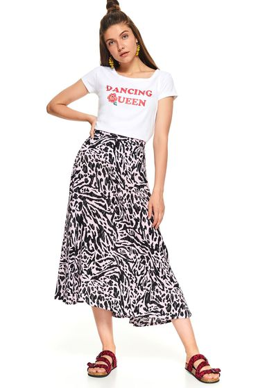 Fusta Top Secret albastru-inchis animal print casual midi in clos