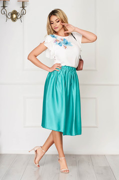 StarShinerS green set elegant 2 pieces with a skirt cloche