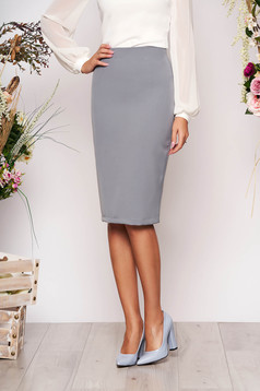 StarShinerS grey high waisted office pencil skirt slightly elastic fabric