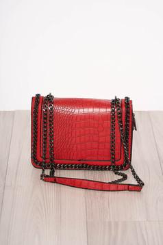 Geanta dama rosie snake print eleganta din piele ecologica accesorizata cu fermoare