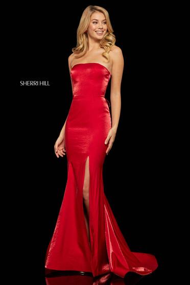 Rochie Sherri Hill 52961 red