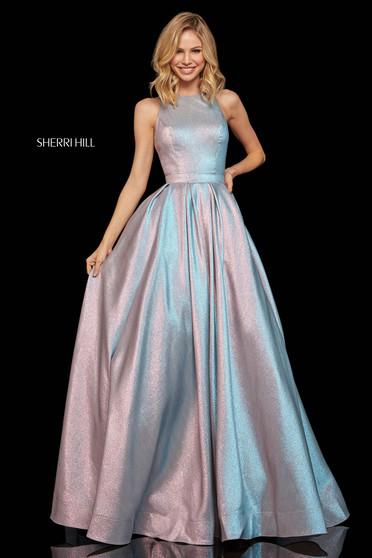 Rochie Sherri Hill 52957 pink/blue