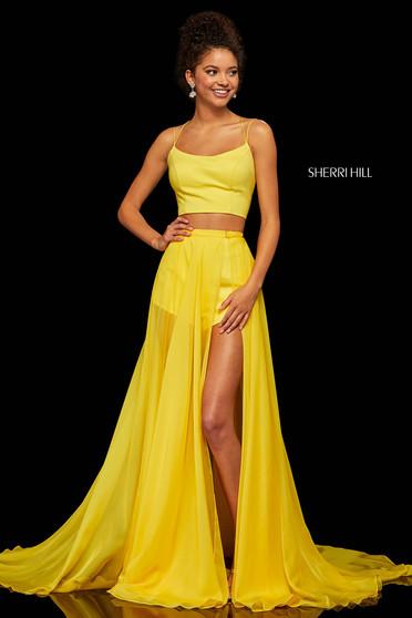 Rochie Sherri Hill 52918 yellow