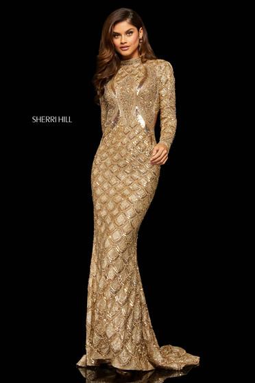 Rochie Sherri Hill 52916 gold