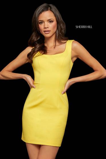 Rochie Sherri Hill 52963 yellow
