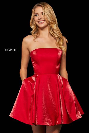 Rochie Sherri Hill 52969 red