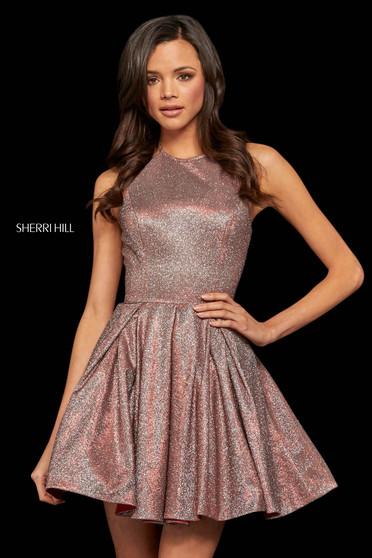 Rochie Sherri Hill 52970 red/silver