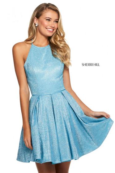Rochie Sherri Hill 52970 turq/silver